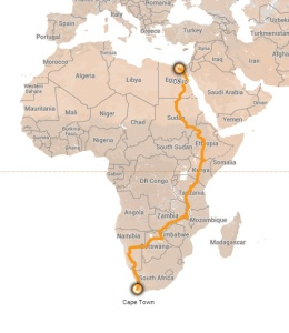 The Adventure, Cairo to Cape Town
