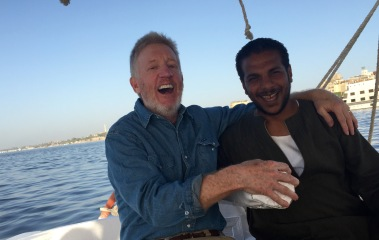 Captain & I sailing Nile