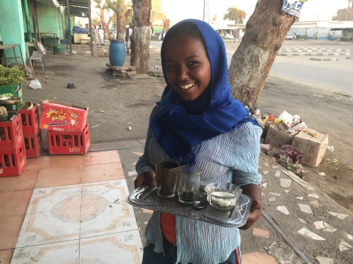 The tea lady. Beautiful smile