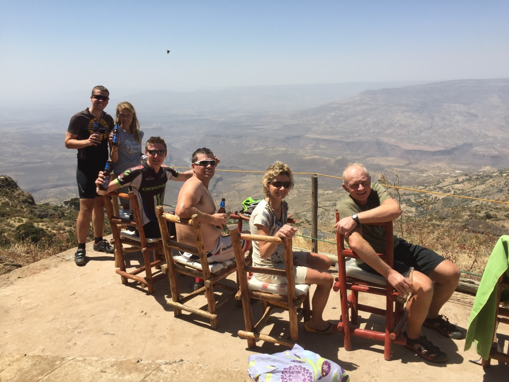 The gang after a hard ride up the Blue Nile Gorge.