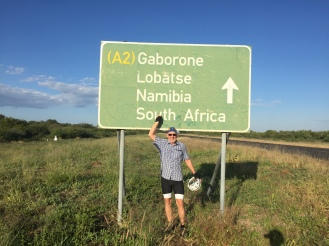 The first sign for South Africa