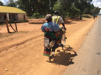 Taxi bike in Malawi